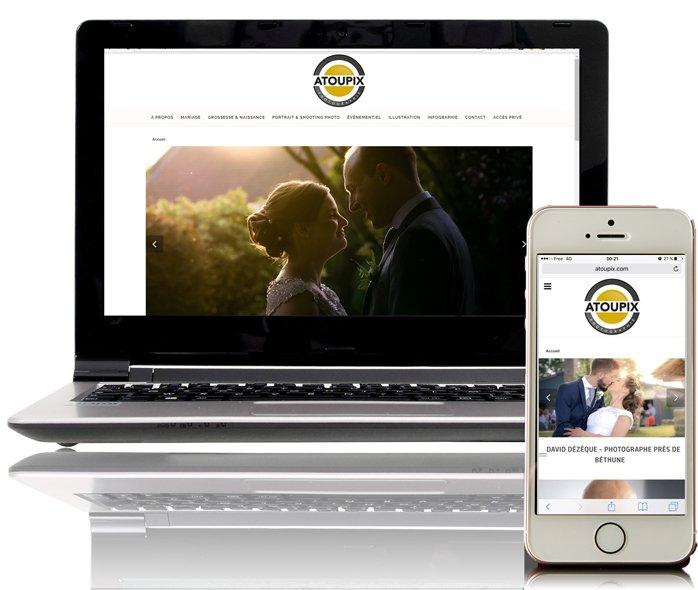 Atoupix, un site responsive par KREATIC