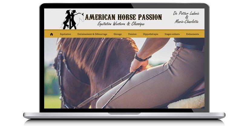 American Horse Passion, site vitrine par KREATIC